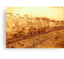 A Sepia Version of The Last of the British Rail Steam Locomotives Canvas Print