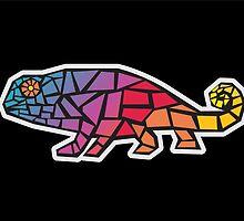 Chameleon mosaic by mayalenka
