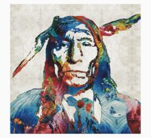 Native American Art - Warrior - By Sharon Cummings Kids Clothes