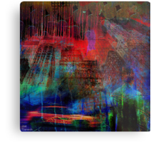 Live in an abstract city Metal Print