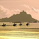 Horses at St Michael's Mount by George Crawford