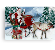 Snowdrop the Maltese Christmas Card Canvas Print