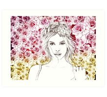 all in roses Art Print