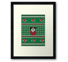 Festive Duck Hunt Sweater Framed Print