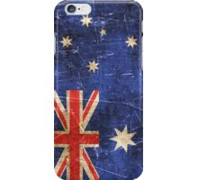 Vintage Aged and Scratched Australian Flag iPhone Case/Skin
