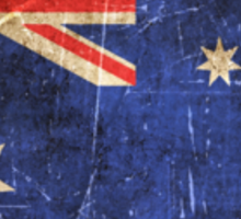 Vintage Aged and Scratched Australian Flag Sticker