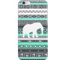 Elephant Tiffany Mint Aztec Pattern iPhone Case/Skin