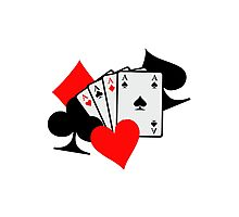 Poker signs cards Photographic Print