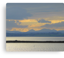A Mellow Sunset Over Inch Island..................................Ireland Canvas Print