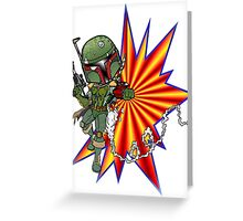 Boba Fett Ready to Fire Greeting Card