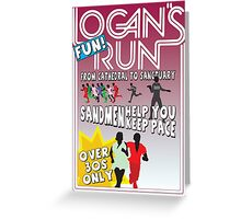 Logan's Fun Run - Parody Poster - Funny Reference to Classic Scifi Film Greeting Card