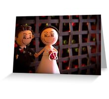 Bride and groom dolls Greeting Card