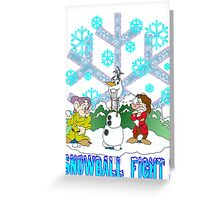 Snowball Fight Disney style Greeting Card