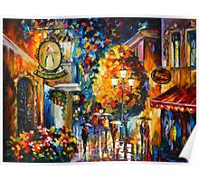 CAFE IN THE OLD CITY - Leonid Afremov Poster