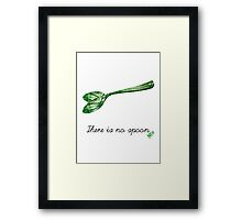 There is no spoon by neo Framed Print