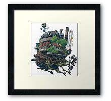 8bit Howl's Moving Castle Framed Print