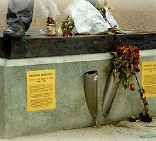 Foot of Freddie Mercury by Charmiene Maxwell-batten
