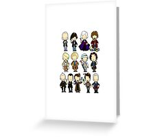 The Doctors 1-11 (plus war doc) Doctor Who Greeting Card