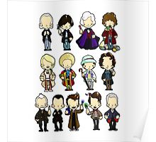 The Doctors 1-11 (plus war doc) Doctor Who Poster