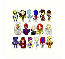 X MEN GROUP  Art Print