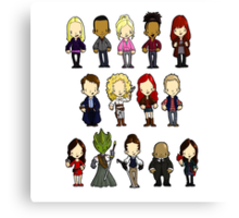 Doctors Companions and Friends V.2 Canvas Print