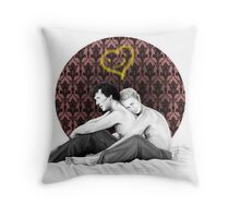 Johnlock - Snuggling Thoughts Throw Pillow