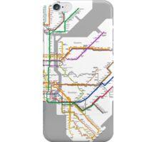 new york subway diagram iPhone Case/Skin