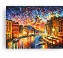 VENICE - GRAND CANAL - Leonid Afremov Canvas Print