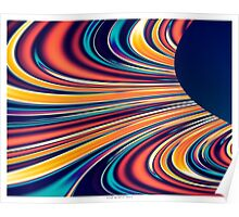 Color and Form Abstract - Solar Gravity and Magnetism 2 Poster