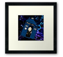 TARDIS in SPACE doctor who 8.5 war Framed Print