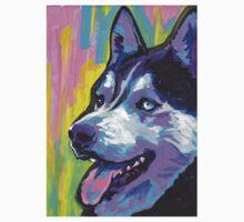 Siberian Husky Bright colorful pop dog art T-Shirt