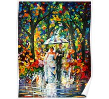 WEDDING UNDER THE RAIN - Leonid Afremov Poster