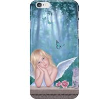 Little Miracles Angel & Kitten iPhone Case/Skin
