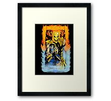 When Fire Meets Ice Framed Print