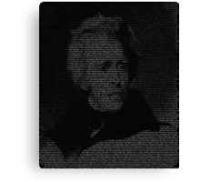 West Wing Andrew Jackson Big Block Of Cheese Canvas Print