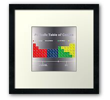 Periodic Table of Comics Framed Print