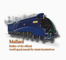 Mallard the Fastest Steam Locomotive T-shirt by Dennis Melling