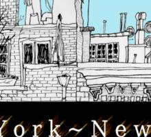 Greenwich Village Roofscape  Sticker
