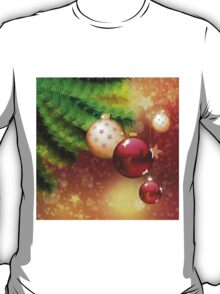 Red and gold balls on branch T-Shirt