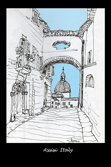 Assisi, Italy, an archway framing the view by James Lewis Hamilton