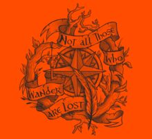 """""""Not all those who wander are lost"""" Kids Clothes"""