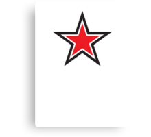 RED STAR with outline Command Canvas Print