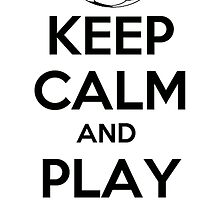 keep calm and play football by pedro rocker