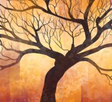 Halloween tree silhouette - digital design Sticker
