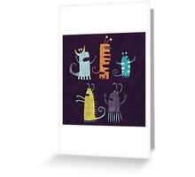 Secretly Vegetarian Monsters Greeting Card