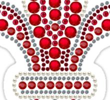 Ruby Fleur de Lis Sticker