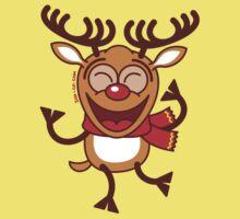Christmas Reindeer dancing animatedly Kids Clothes