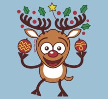 Cool Reindeer Decorating for Christmas Kids Clothes