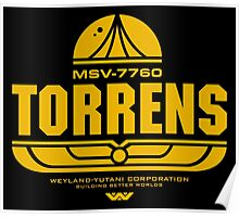 Torrens (yellow) Poster