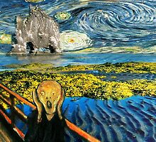 The Scream on the Starry Night by Gravityx9